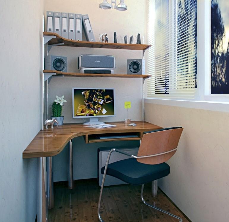 Рабочее место на балконе - дизайн будущего